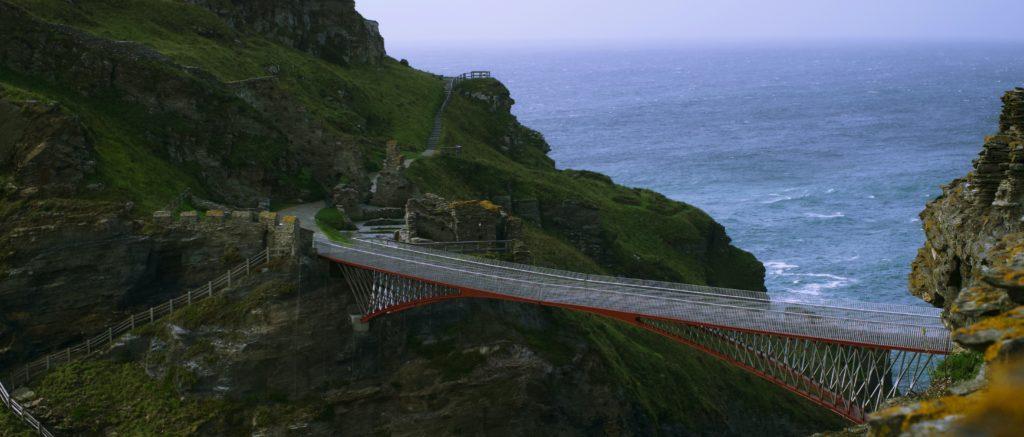 The footbridge at Tintagel